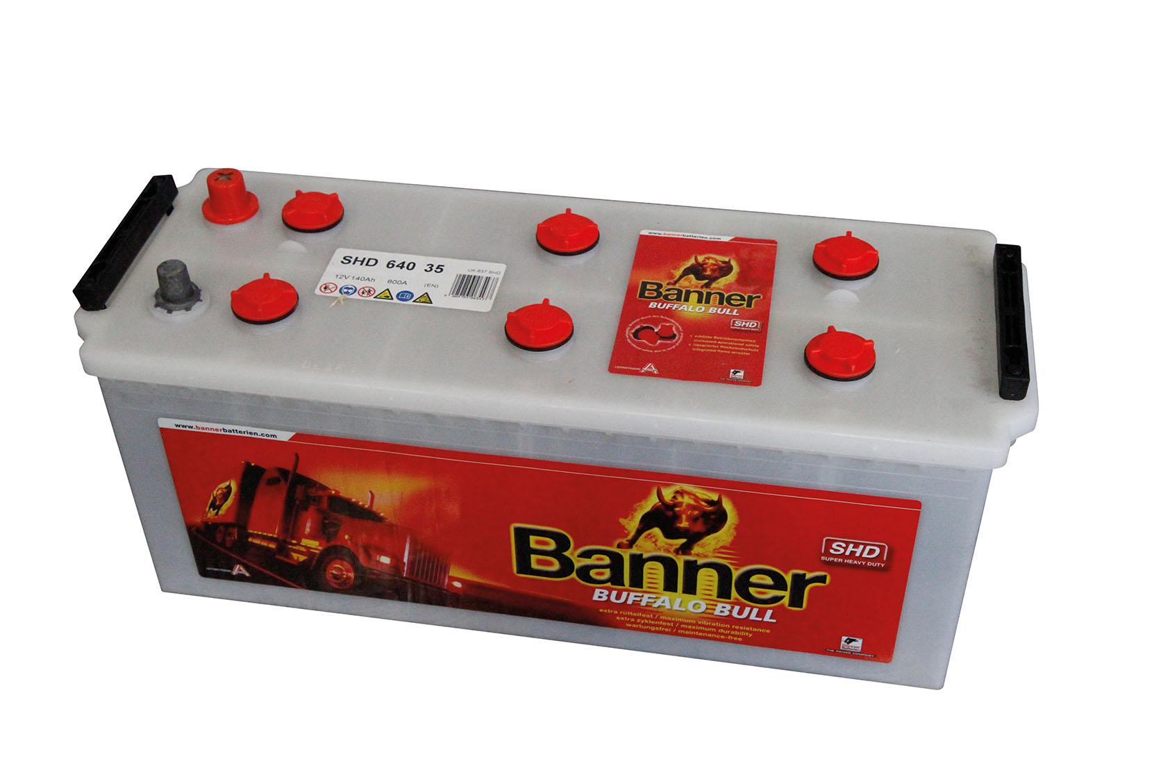 BATTERIES BANNER POIDS LOURDS 140 AH